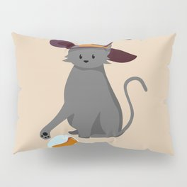 Mischievous Witch's Cat Pillow Sham