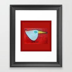 Birdy Blue Framed Art Print