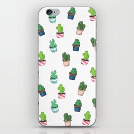 Cacti Abound Watercolor Graphic Print iPhone Skin