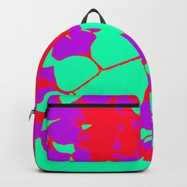 Abstract Ginko Leaves in Turquoise, Purple and Red Backpack