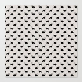 Corgi Butt Pattern Canvas Print