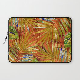 Tropical Leaves Abstract Laptop Sleeve