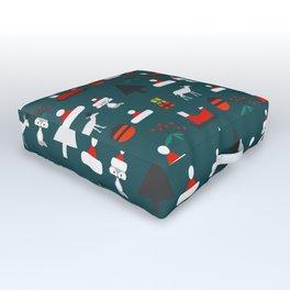 Christmas crowd Outdoor Floor Cushion