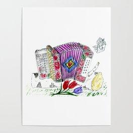 Decorative accordion Poster