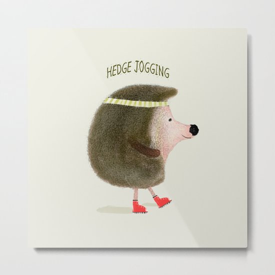 hedge jogging Metal Print