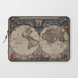Vintage World Map - Terrarum Orbis Tabula 1664 Laptop Sleeve