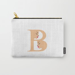 Letter B with faces of women Carry-All Pouch