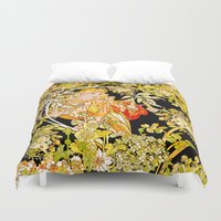 mucha Duvet Covers featuring Marguerite's Bower, Mucha by Vintage Era Art