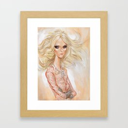 Fashion in White 1 Framed Art Print
