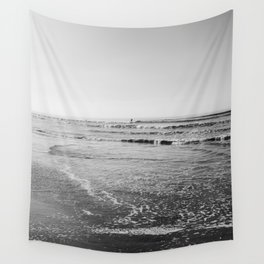Surfing Monochrome Wall Tapestry