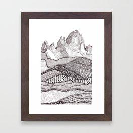 Patterns on Patagonia Framed Art Print