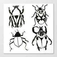 insects Canvas Prints featuring Insects by Kim Cooper Collections