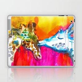 Giraffe Kiss Laptop & iPad Skin
