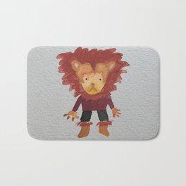 Lion Jungle Friends Baby Animal Water Color Bath Mat