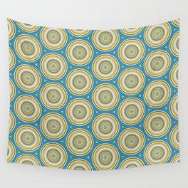 Olive Poka Dots Wall Tapestry