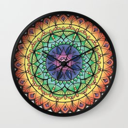 Mandala jewel Wall Clock