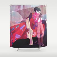 health Shower Curtains featuring Good for Health, Bad for Education by sarlisart