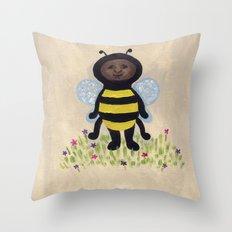 I'm A Bee Buzzzzzzzzzzzzzzzzzz Throw Pillow