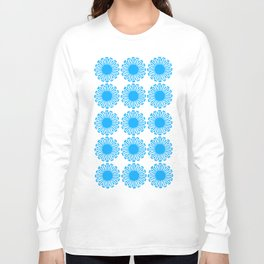 Vintage Flower_Turquoise Long Sleeve T-shirt