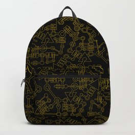 Mecanic Pattern Backpack