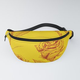 Yellow Roses pattern Fanny Pack