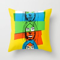 iggy azalea Throw Pillows featuring Iggy by Mohac