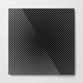Black and Dark Shadow Polka Dots Metal Print