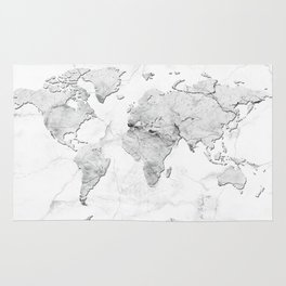 world map marble Rug