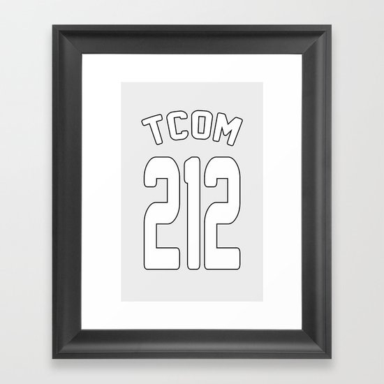 TCOM 212 AREA CODE JERSEY Framed Art Print
