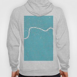 London Turquoise on White Street Map Hoody