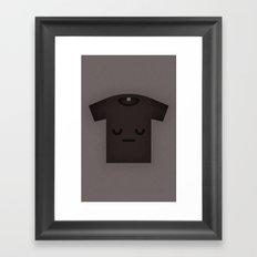 Sad Shirt Framed Art Print