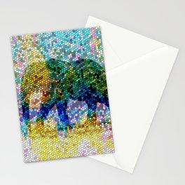 Mosaic Elephant 2 Stationery Cards