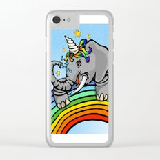 Magical Uniphant! Clear iPhone Case