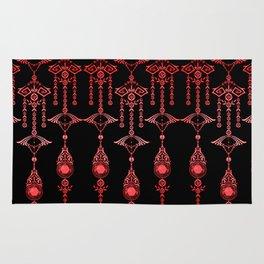 CASTELLINA JEWELS: ORNATE RED GOTH Rug