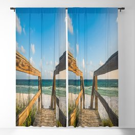 Head to the Beach - Boardwalk Leads to Summer Fun in Florida Blackout Curtain