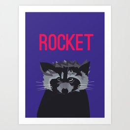 R IS FOR ROCKET, R IS FOR RACOON Art Print