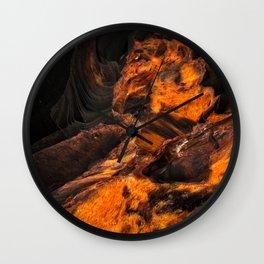 Obsidian Rock - Lava Flow Wall Clock