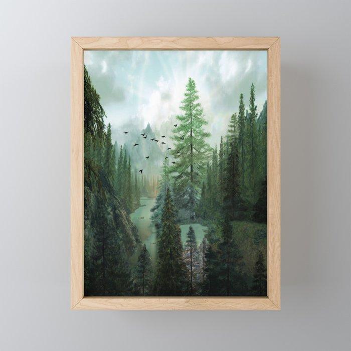 Mountain Morning 2 Framed Mini Art Print
