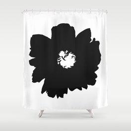 Black Peony Shower Curtain