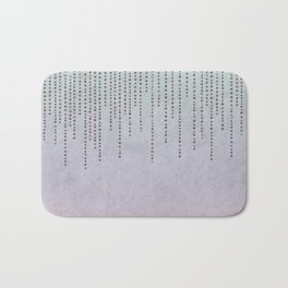 Sparkling Faux Glitter Soft Pastel Pink and Teal Bath Mat