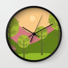 Kawai landscape breaking Dawn Wall Clock