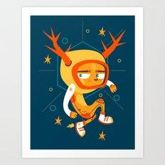 Space Deer Art Print