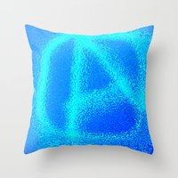 anarchy Throw Pillows featuring anarchy by XiXi