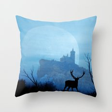 Stag moon Throw Pillow