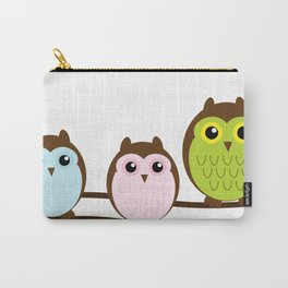 Colorful Owl Birds Cutest Carry-All Pouch
