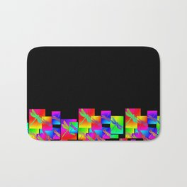 Rainbow Patterns Bath Mat