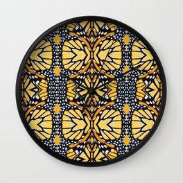 Butterfly Wing Pattern Wall Clock