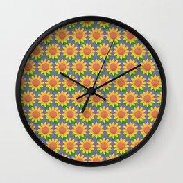 Sunflower Pattern_E Wall Clock