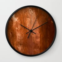 copper Wall Clocks featuring copper by gaus