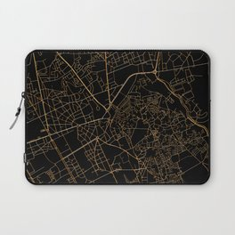 Black and gold Marrakesh map Laptop Sleeve